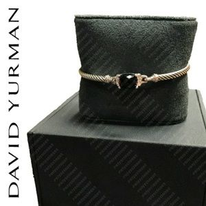 David Yurman Onyx & Diamond Bracelet, sz. M